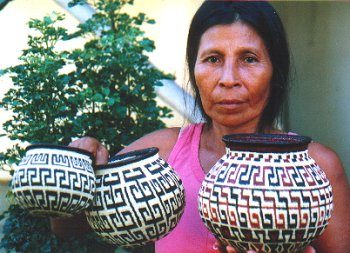 Neyla with baskets