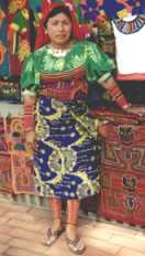 Traditional Kuna women's costume