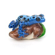 Tagua Frog Carving from Panama